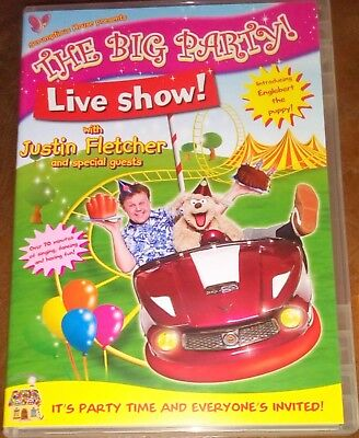 Justin Fletcher  The Big Party Live Show DVD Childrens Kids  • 3.50£