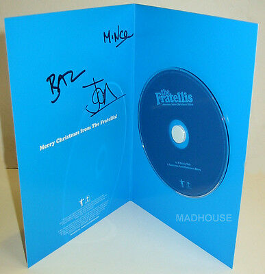 FRATELLIS CD & Christmas Card FULLY SIGNED Lonely Anti Christmas Blues Rare • 34.95£