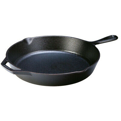 £54.99 • Buy Lodge Cast Iron Round Skillet Frying Pan With Handle Diameter 12  30cm Oven Safe