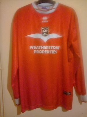 2002 Brighton And Hove Albion Red L/s Away Shirt Size Xxl 2xl Errea # 9 Vgc Bha  • 59.99£