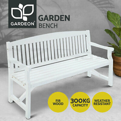 AU164.90 • Buy Gardeon Garden Bench 3 Seat Wooden Outdoor Lounge Chair Timber Patio Furniture