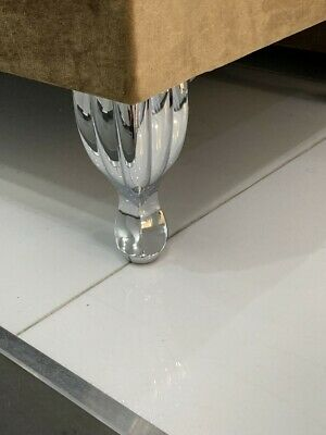 Replacement Chrome Furniture Legs For Sofas, Settees, Chairs Pre Drilled Holes • 29.99£