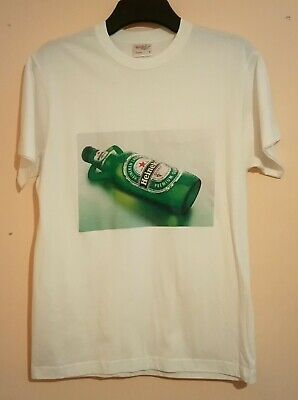 Heineken White And Green T Shirt Reclining Bottle Upperdeck Apache Size M Vgc Hk • 14.99£