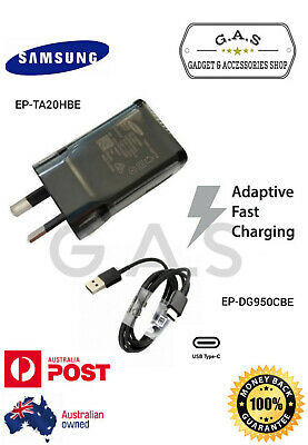 AU7 • Buy Genuine SAMSUNG Adaptive FAST Wall Charger+Type C Cable For Galaxy S9 S8 Note 9