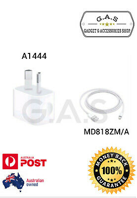 AU11.98 • Buy Genuine Apple Wall Charger (A1444) + Lightning Cable For IPhone 5 6 7 8 X XS MAX