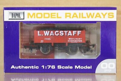 DAPOL L WAGSTAFF HUNTINGTON 7 PLANK COAL WAGON 122 LIMITED EDITION MINT BOXED Ns • 14.50£