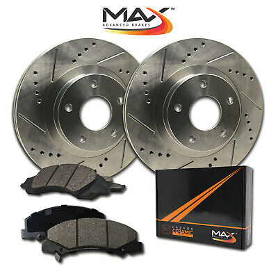 $ CDN179.08 • Buy 2007 2008 Fit Dodge Ram 3500 Slotted Drilled Rotor W/Ceramic Pads F