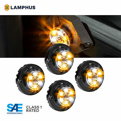 $130 • Buy 4pc LAMPHUS SnakeEye-III LED Hideaway Strobe Light SAE Class1 IP67 Amber/White