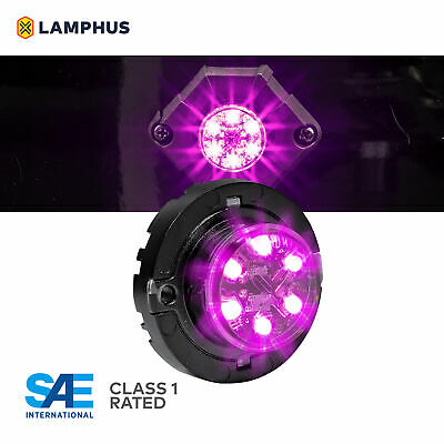 $39.99 • Buy LAMPHUS SnakeEye-III LED Hideaway Strobe Light SAE Class1 IP67 Purple