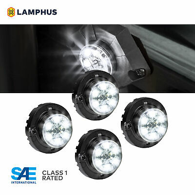 $130 • Buy 4pc LAMPHUS SnakeEye-III LED Hideaway Strobe Light SAE Class1 IP67 White