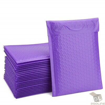 $ CDN21.41 • Buy 25 #5 Purple Poly Bubble Mailers 10.5  X 16  Shipping Mailing Padded Envelopes