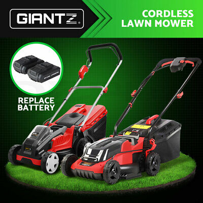 AU289.90 • Buy Giantz Cordless Lawn Mower Electric Lithium Battery Powered Push Lawnmower