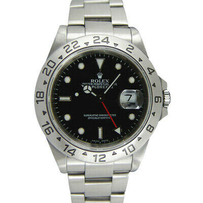 $ CDN13881.69 • Buy ROLEX - 40mm Stainless Steel Explorer II Black Index Holes 16570 - SANT BLANC
