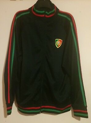 Portugal National Football Team Black Green Red Track Top 2xl Great Condition  • 34.99£
