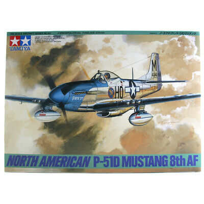 Tamiya North American P-51D Mustang 8th AF Plane Model Kit - Scale 1:48 - 61040 • 20.99£