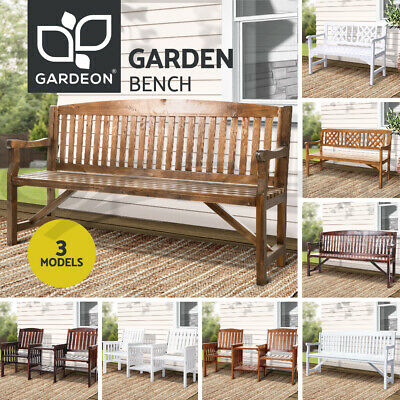 AU239.95 • Buy Gardeon Wooden Garden Bench 3 Seat Outdoor Chair Table Loveseat Patio Furniture