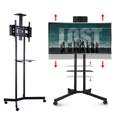 £51.97 • Buy Portable Mobile Trolley TV Stand Support For 32  - 65  Screen Wheeled Adjustable