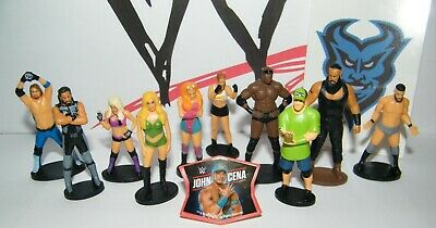 WWE Wrestling Party Favors Set Of 12 With 10 Figures, WWE Sticker,  Finger Ring • 7.84£