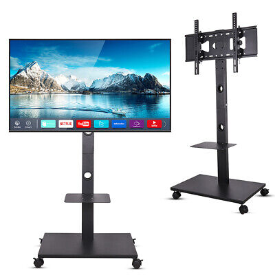 £53.95 • Buy Modern Glass TV Stand Mobile Corner Television Unit With Bracket For 32-65inch