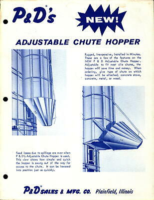 Vintage Brochure Farm Machinery P&D's Adjustable Chute Hopper • 6.57£