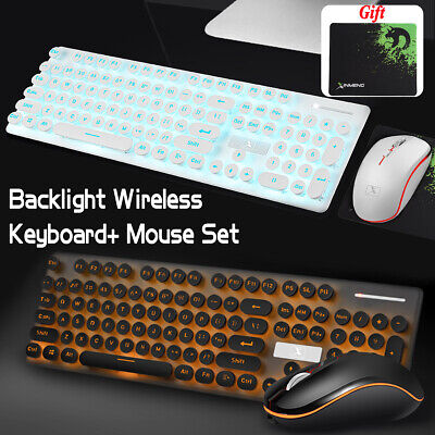2.4G Wireless Rechargeable LED Backlit USB Gaming Keyboard