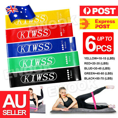 AU29.95 • Buy Resistance Bands Set Of 5 For Exercise Men And Women Legs Arms Booty Yoga Physio
