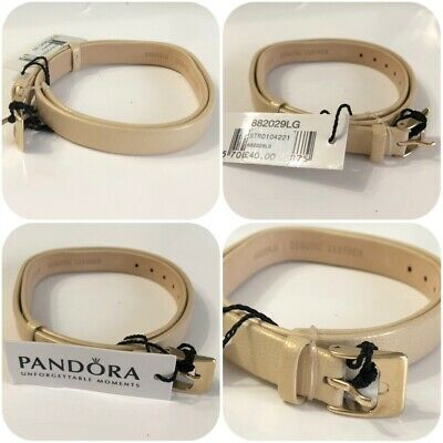e1bec4631 Pandora Light Gold Leather Band Ipg Steel Buckle Double Oblong Discontinued  • 38.18$