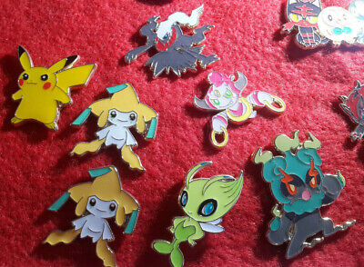 Pokemon TCG Official Pin Badges Pikachu Mew Shaymin Celebi Jirachi And More • 2.99£