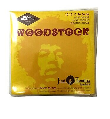 $ CDN14.67 • Buy Black Diamond Guitar Strings Woodstock Electric Light 10-46 Hendrix Foundation