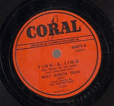 Milt Herth Trio On 78 Rpm Coral 60079: Ting A Ling/Ain't Shee Sweet • 6.59£