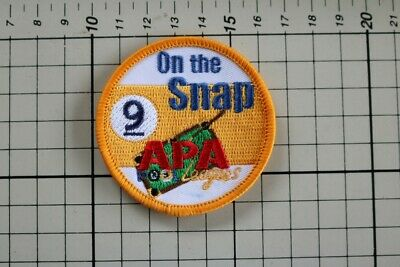 AU6.95 • Buy Cue Sports Clothing Badge - APA Leagues 9 Ball On The Snap