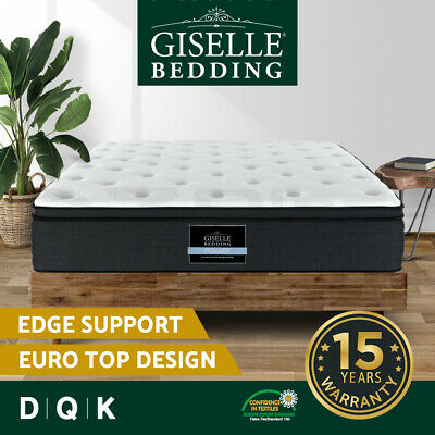 AU289 • Buy Giselle Bed Mattress QUEEN DOUBLE KING Pocket Spring Firm Plush Foam 7 Zone