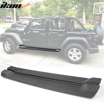 Fits 18-19 Jeep Wrangler JL 4DR Factory Style Textured Black Running Boards • 146.98$