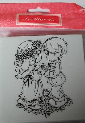 NEW WEDDING FOAM BACKED RUBBER STAMP From Le BLANCHE • 4.99£