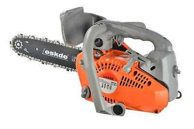 "View Details Top Handle Petrol Chainsaw Topping Limbing 26cc Engine 10"" Bar 2 Chains Bag Pro • 99.99£"