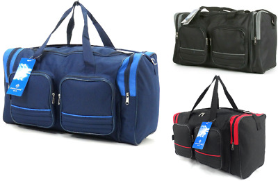 New 22  Large 50L Duffle Bag Luggage Travel Work Holdall Gym Cargo Sports Cabin • 11.99£