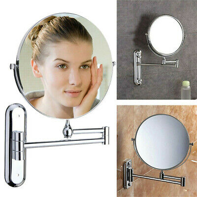 £17.97 • Buy Double Side Bathroom Mirror Wall Mounted Make-up Shaving Mirror 5x Magnifying UK