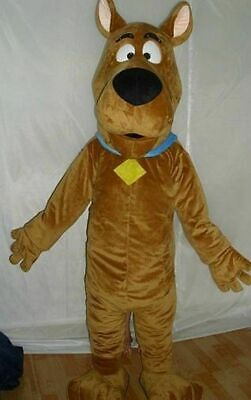 L|scooby-doo Dog Brown Mascot Costume Cosplay Adult Suit Fancy Dress Handmade Ho • 85£