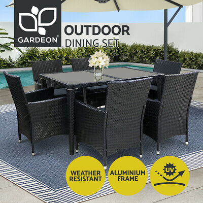 AU740 • Buy Gardeon Outdoor Dining Set Table And Chairs Patio Furniture Wicker Rattan Garden