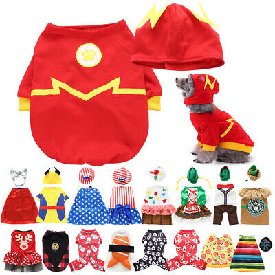 £6.88 • Buy Small Pet Dog Cat Chihuahua Costumes Party Cosplay Fancy Dress Clothes Outfit