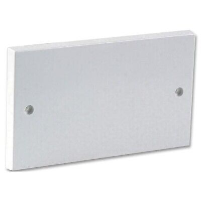 Double Gang Blanking Plate 2 Gang 2G Plug Wall Socket Cover White Faceplate • 1.89£
