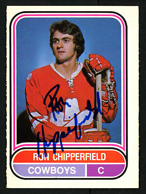 $19 • Buy Ron Chipperfield Autographed Signed 1975-76 WHA OPC Card Calgary Cowboys 151393