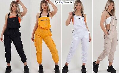 £8.99 • Buy Shell Suit Festival Dungaree Playsuit Tracksuit Womens Pinafore Retro Outfit NEW