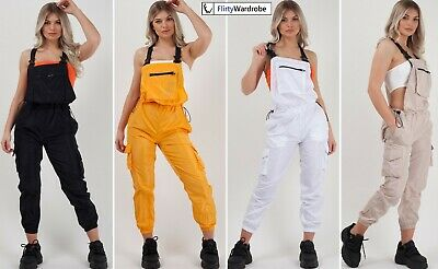 Shell Suit Festival Dungaree Playsuit Tracksuit Womens Pinafore Retro Outfit NEW • 15.75£