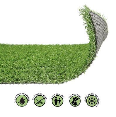 £34.99 • Buy 20mm Artificial Grass Realistic Quality Garden Green Lawn Fake Astro Turf 4mx1m
