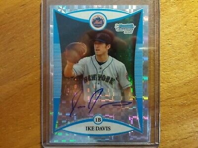 $3.50 • Buy Ike Davis 2008 Bowman Chrome Xfractor Auto Rookie Rc In Case #204/225 Ny Yankees