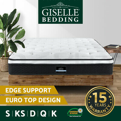 AU169 • Buy Giselle Bed Mattress Queen Double King Single Mattresses Euro Top Spring Foam