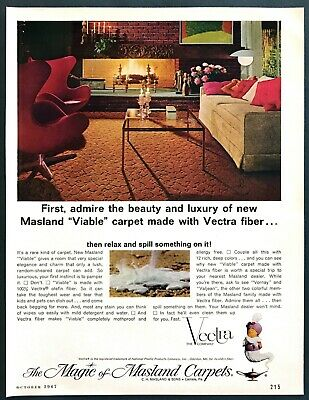 £5.74 • Buy 1967 2 Egg Chairs Designed By Arne Jacobsen Photo Masland Carpets Promo Print Ad