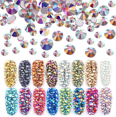 1000 Rhinestones - Crystal Flat Back Resin Nail Art Face Gems Crafts Festival • 1.99£