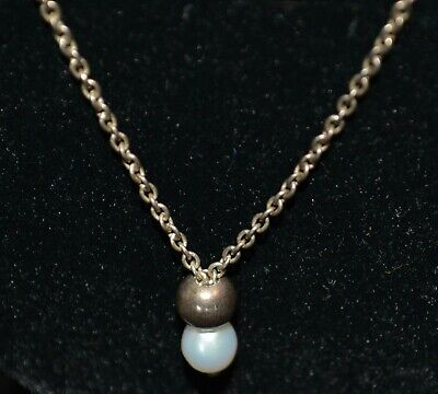 £123.90 • Buy Fine Sterling Silver PEARL  Charm Pendant CHAMIILA Necklace CHAM 925